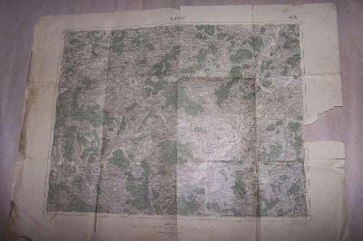 MAPA KLATOVY r.1928  63 x 48/B166/