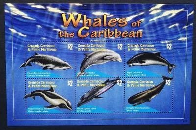 Grenadiny & Grenada 2010 Mi.4599-4 10€ Velryby a delfíni ostrovů, ryby