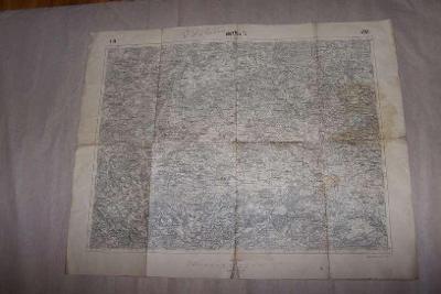 MAPA HORAŽĎOVICE r.1915 57 x 46 /Klatovy/B166/