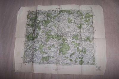 MAPA HORŠOVSKÝ TÝN r.1937 62 x 47 /Domažlice /B166/