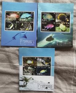 Penrhyn 2012 Mi.694-5 110€ Okrasné ryby ostrova, fauna moří v aršících