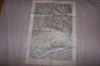 MAPA KLENČÍ POD ČERCHOVEM ŠUMAVA REGENSBURG 1923 cca 63 x 43/B166/