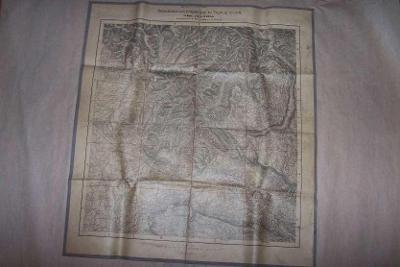 MAPA KRIEGSSPIELPLAN DER UMGEBUNG VON GORZ ITÁLIE cca 63 x 58 / B166/