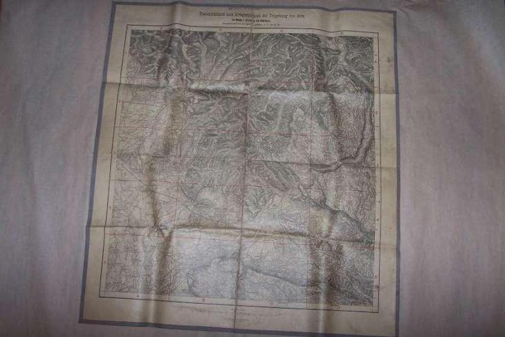 MAPA KRIEGSSPIELPLAN DER UMGEBUNG VON GORZ ITÁLIE cca 63 x 58/B166/ - Antikvariát