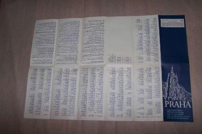 MAPA PRAHA NÁRODNÍ PAMÁTKY  r.1979 cca 42 x 42/B166/