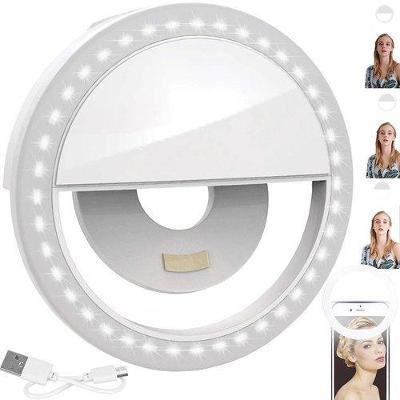 Selfie LED světlo pro mobilní telefony + dárek