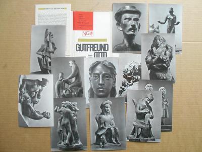 OTTO GUTFREUND 12 ks / VELKÉ FOTOPOHLEDNICE 15X11 cm. Foto T. HONTY