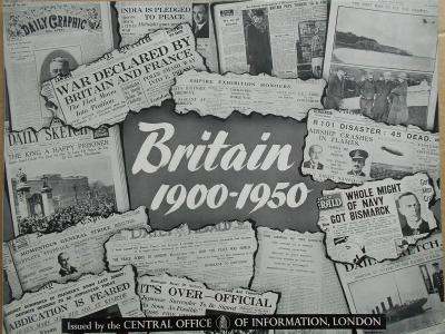 BRITAIN - BRITÁNIE  Foto 1900 - 1950 V obraze 24 ks roz. 39x31 cm