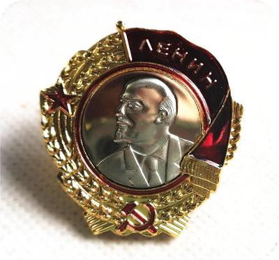 RUSKO CCCP Medaile ŘÁD Leninův LENIN na závit klasický replika