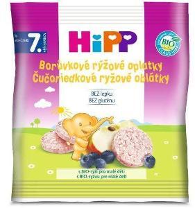 HIPP borůvkové bio rýžové oplatky pro malé děti
