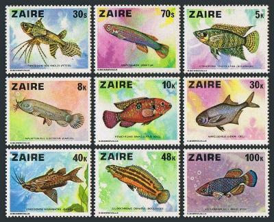 Zair (Kongo)1978 Mi.548-6 13€ Akvarijní ryby Afriky, fauna moří a vod