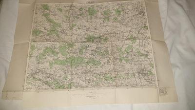 Stará vojenská mapa 1938-Pardubice-Bohdaneč-Chlumec-Nechanice-Bydžov