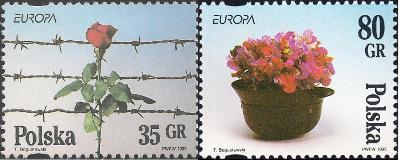 Polsko 1995 Známky Mi 3533-3534 ** Europa CEPT Druhá světová válka