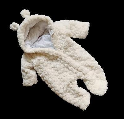 Kožíšková zimní kombinézka Cutey Couture 3-6m
