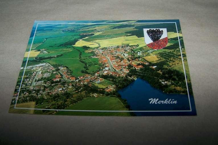 MERKLÍN letecká  znak /Plzeň jih /B160 A / - Pohlednice