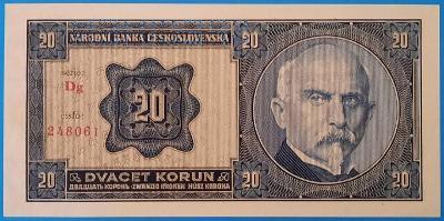 !! LUXUSNÍ BANKOVKA 20 KORUN 1926,  SPECIMEN,  STAV UNC !!