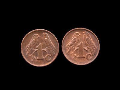 Jihoafrická Republika - 2x 1 Cent 2000 a 2001 (Isewula Afrika)