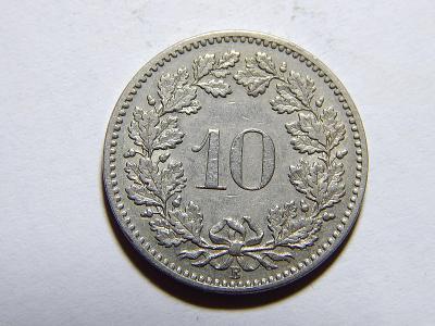 Švýcarsko 10 Rappen 1897B RR XF č11911