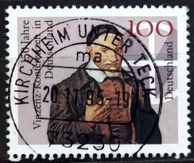 DEUTSCHLAND: MiNr.1793 Vincent Conferences in Germany 100pf 1995