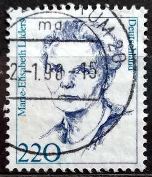 DEUTSCHLAND: MiNr.1940 Marie-Elisabeth Lüders 220pf, Famous Women 1997
