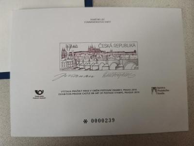 Pražský Hrad v umění poštovní známky (černotisk+FDC+známka)