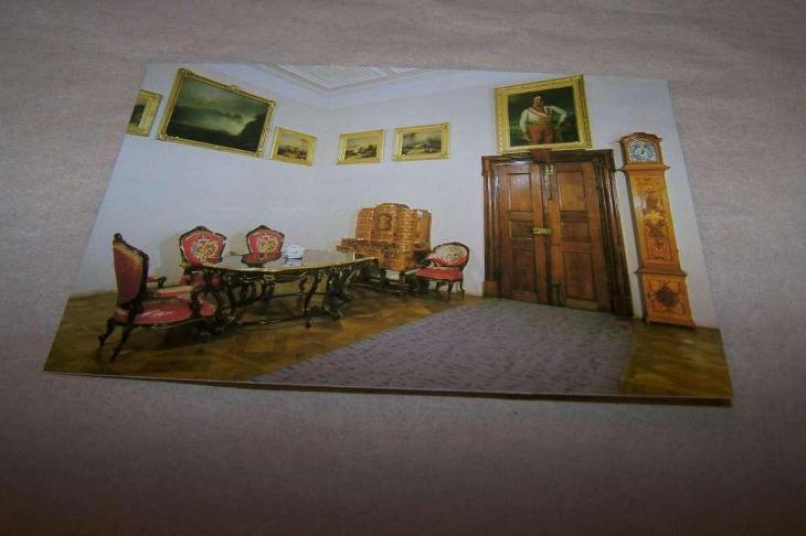ČESKÝ KRUMLOV znakový salon hodiny /B160 B/ - Pohlednice