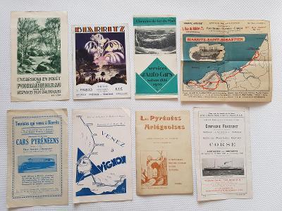 Staré reklamní prospekty autobusová lodní doprava autokar 20léta