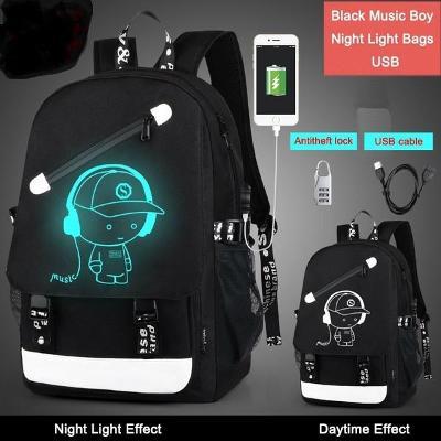 Školní batoh pro teenagery a pro notebook 15,6 palce  s USB nabíjením