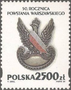 Polsko 1994 Známky Mi 3500 ** Druhá světová válka Varšavské povstání