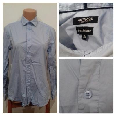 Pánská košile dl. rukáv sv. modrá, vel. M