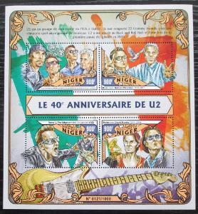 Niger 2016 U2, hudební skupina Mi# 4067-70 Kat 14€ 2253