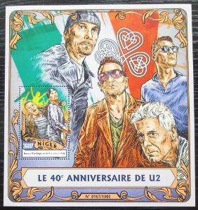 Niger 2016 U2, hudební skupina Mi# Block 518 Kat 14€ 2253