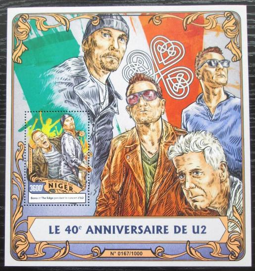 Niger 2016 U2, hudební skupina Mi# Block 518 Kat 14€ 2253 - Filatelie