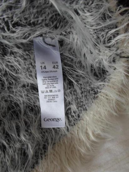 George -  chlupatý svetr  UK 14/42 - Dámské oblečení