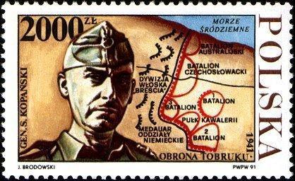 Polsko 1991 Známky Mi 3351 ** Druhá světová válka Obléhání Tobruku