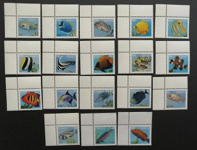 Dominika 1997 Mi.2417-4 49€ Definitiva ostrovní ryby, fauna moří