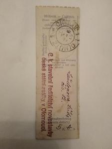 1.světová R-U 1915, feldpost-finanční průvodka