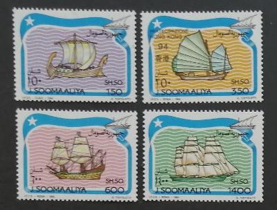 Somálsko 1994 Mi.499-2 10€ Historické lodě a doprava