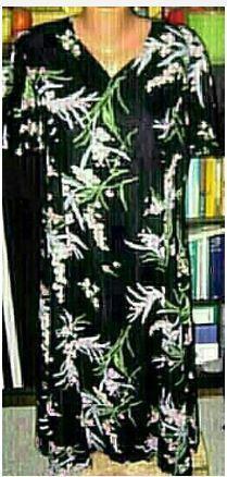 Krásné šaty s květy, velmi slušivé, L-XL