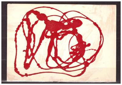 pohlednice-kombinovaná malba-Noevosz-Hamburg