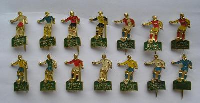Soubor odznaků - fotbal - kopaná