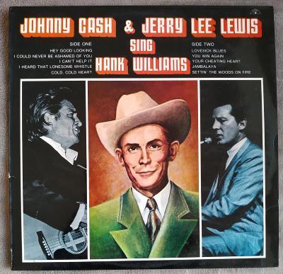 LP JOHNY CASH & J.L.LEWIS sing H.WILLIAMS(1971) UK SUN EX++TOP STAV!