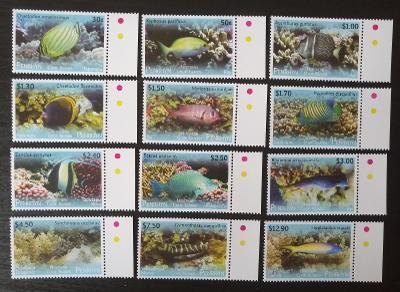 Penrhyn 2013 Mi.718-9 70€ Definitiva ostrovní ryby, fauna moří
