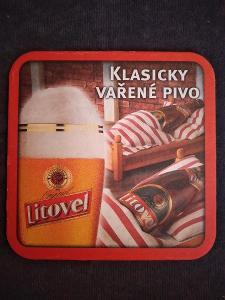 Pivní podtácek - Litovel
