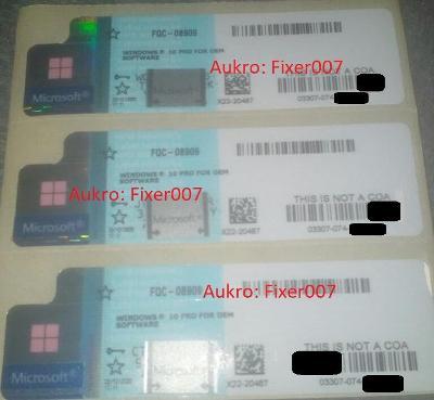Microsoft Windows 10 PRO nové COA/certifikát + Faktura AKCE