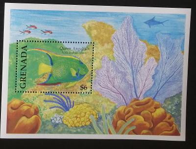 Grenada 2000 Bl.566 7€ Tropické ryby, korály, mořská fauna