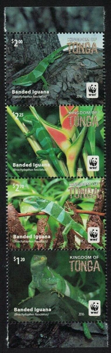Tonga 2016 Mi.2102-5 10€ Ostrovní plazi, leguáni, fauna a ještěři