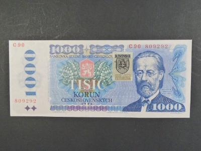 Slovensko 1000 Sk/Kčs 1985 série C 90 kolek stav -N-