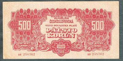 500 korun 1944 serie AO NEPERFOROVANA