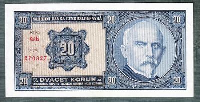 20 korun 1926 serie Gh NEPERFOROVANA stav 0